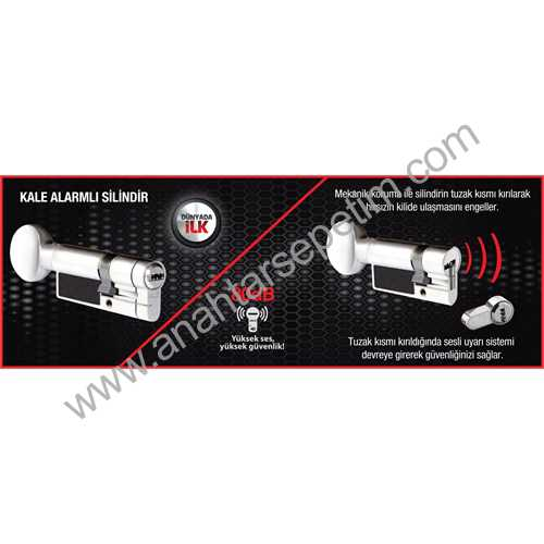 Alarmlı Sistem Mandallı Silindir 76mm - 164ASM00001