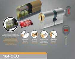 Kale Kilit CEC Tüpten Şifreli Silindir 68mm Kumlu Nikel 5 Anahtarlı 164CEC00004